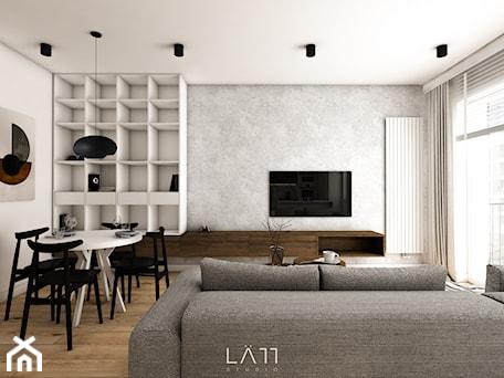 Aranżacje wnętrz - Salon: Apartament Lekka - Salon, styl minimalistyczny - LÄTT Studio Wnętrz. Przeglądaj, dodawaj i zapisuj najlepsze zdjęcia, pomysły i inspiracje designerskie. W bazie mamy już prawie milion fotografii!