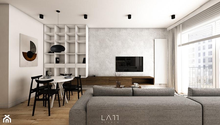 Apartament Lekka - Salon, styl minimalistyczny - zdjęcie od LÄTT Studio Wnętrz