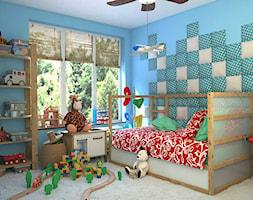 pokój dla chłopca z miękką ścianą - zdjęcie od dappi panele dekoracyjne