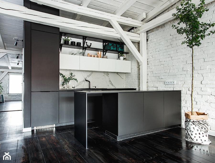 Minimalistyczny Loft W Starej Kamienicy Mala Otwarta Biala Kuchnia