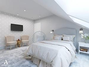 Metamorfoza domu w Mławie - Średni szary pokój dziecka dla chłopca dla dziewczynki dla malucha dla nastolatka, styl nowojorski - zdjęcie od Aleksandra Wachowicz