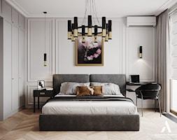 Apartament Sarmacka - Sypialnia, styl nowojorski - zdjęcie od Aleksandra Wachowicz - Homebook