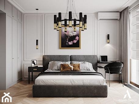 Aranżacje wnętrz - Sypialnia: Apartament Sarmacka - Sypialnia, styl nowojorski - Aleksandra Wachowicz. Przeglądaj, dodawaj i zapisuj najlepsze zdjęcia, pomysły i inspiracje designerskie. W bazie mamy już prawie milion fotografii!
