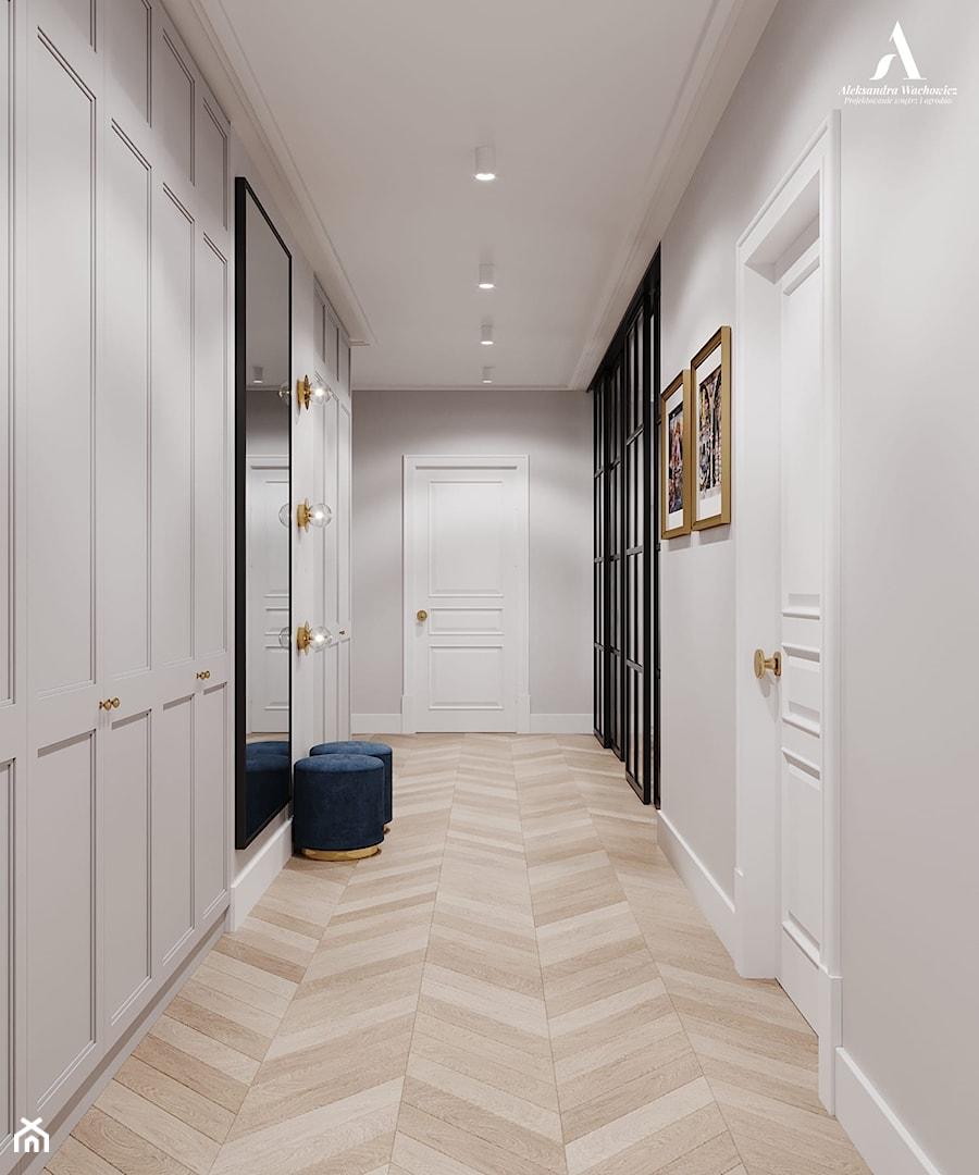 Apartament Sarmacka - Hol / przedpokój, styl nowojorski - zdjęcie od Aleksandra Wachowicz