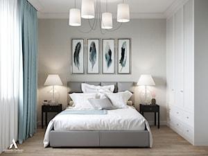 Przytulne mieszkanie - Średnia szara sypialnia małżeńska, styl klasyczny - zdjęcie od Aleksandra Wachowicz
