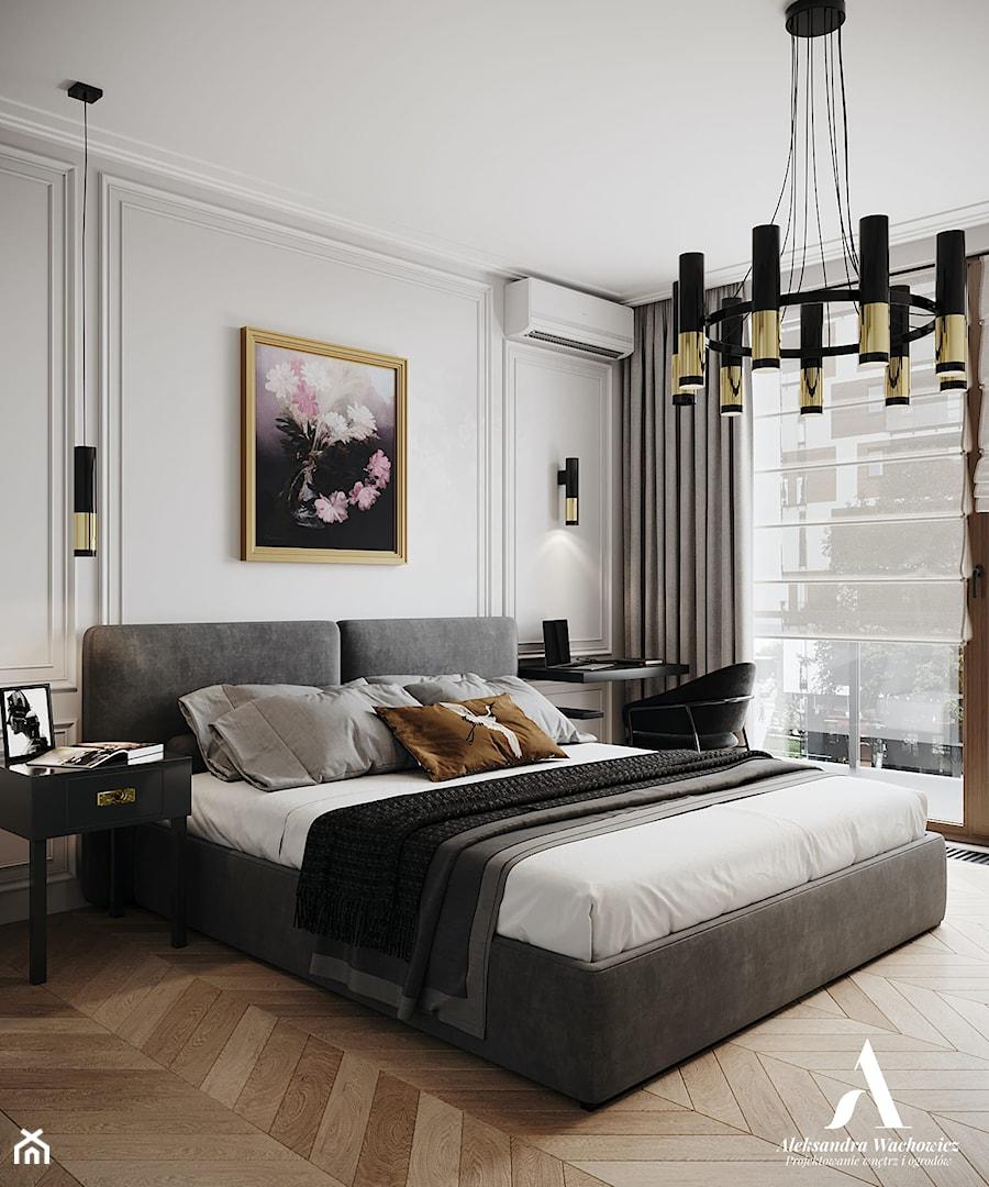 Apartament Sarmacka - Sypialnia, styl nowojorski - zdjęcie od Aleksandra Wachowicz