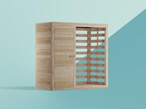 Nowoczesna drewutnia - zdjęcie od noinoi