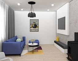Salon z kominkiem - zdjęcie od IDS projektowanie wnętrz - Homebook