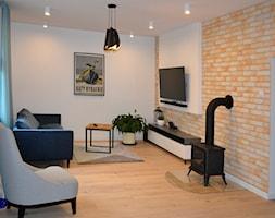 Dom w Rumi, 140m2 - Salon, styl skandynawski - zdjęcie od IDS projektowanie wnętrz - Homebook