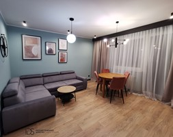 Salon z bloku - zdjęcie od IDS projektowanie wnętrz - Homebook