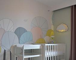 Pokój noworodka, 12m2 Wejherowo - Mały szary beżowy pokój dziecka dla chłopca dla dziewczynki dla niemowlaka, styl skandynawski - zdjęcie od IDS projektowanie wnętrz - Homebook