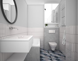 Łazienka na piętrze - zdjęcie od IDS projektowanie wnętrz - Homebook