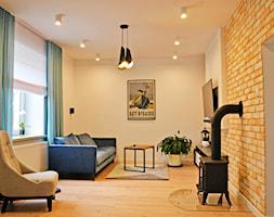 Dom w Rumi, 140m2 - Średni szary salon, styl skandynawski - zdjęcie od IDS projektowanie wnętrz - Homebook