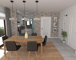mieszkanie 7 - Średnia otwarta biała jadalnia jako osobne pomieszczenie, styl skandynawski - zdjęcie od projekt ka