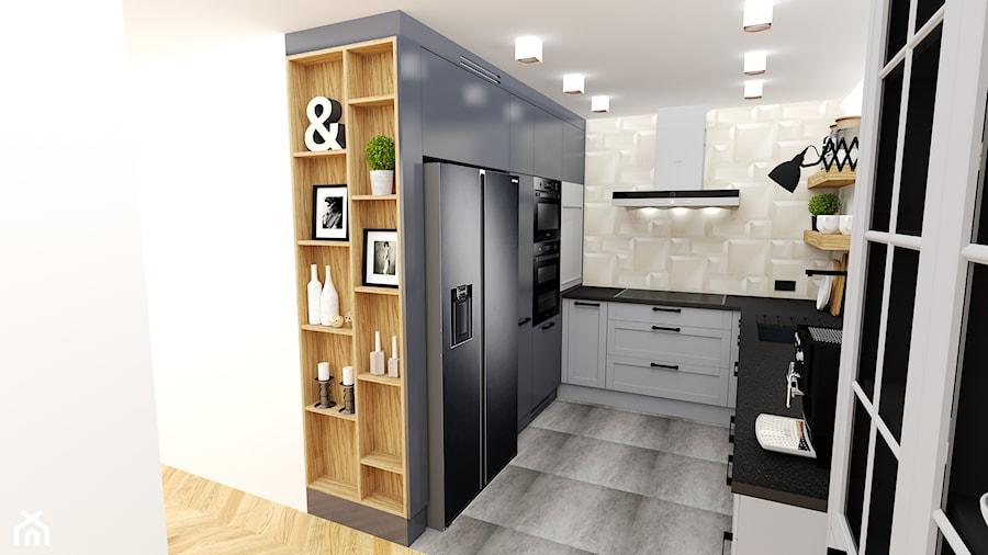 Aranżacje wnętrz - Kuchnia: kuchnia 29.a - Mała otwarta szara kuchnia w kształcie litery u - projekt ka. Przeglądaj, dodawaj i zapisuj najlepsze zdjęcia, pomysły i inspiracje designerskie. W bazie mamy już prawie milion fotografii!