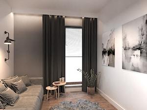 #4 - Średnie szare białe biuro domowe w pokoju, styl industrialny - zdjęcie od Katarzyna Piotrowska
