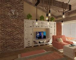 Sypialnia w drewnie i cegle - zdjęcie od ARCHITEKT WNĘTRZ ASPROJEKT