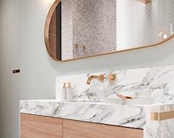 HD-1001 - Mała szara łazienka w bloku w domu jednorodzinnym bez okna, styl eklektyczny - zdjęcie od Homedesignkiev