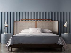 HD-1001 - Średnia szara sypialnia małżeńska, styl vintage - zdjęcie od Homedesignkiev