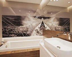 Mieszkanie w Gydni - Mała łazienka bez okna, styl minimalistyczny - zdjęcie od InteriorIdea