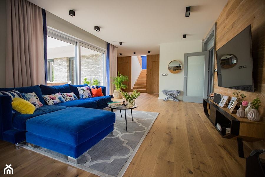 Blue - Salon, styl nowoczesny - zdjęcie od Izabela Śmigórska - projektowanie wnętrz