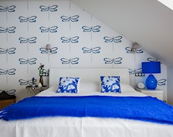Blue - Sypialnia, styl nowoczesny - zdjęcie od Izabela Śmigórska - projektowanie wnętrz - Homebook