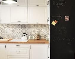 Kuchnia rustykalna - Średnia otwarta szara kuchnia w kształcie litery l, styl rustykalny - zdjęcie od rebelle.concept - Homebook