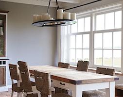 Średnia zamknięta szara jadalnia jako osobne pomieszczenie, styl prowansalski - zdjęcie od BelleMaison