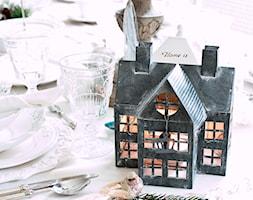 Xmas 2014 - Mała zamknięta szara jadalnia jako osobne pomieszczenie - zdjęcie od BelleMaison