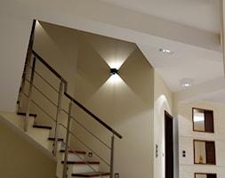 KONKURS - Średnie wąskie schody wachlarzowe drewniane betonowe, styl tradycyjny - zdjęcie od BolanowskaStyle