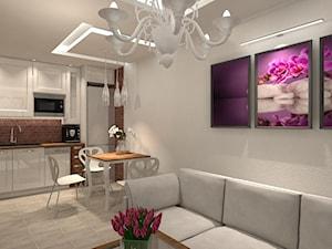 Salon z aneksem Kuchennym w stylu prowansalskim. - zdjęcie od JLStudioProjekt