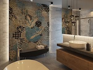 NOWE OBLICZE DOMU Z LAT 70-TYCH - Średnia szara kolorowa łazienka z oknem, styl nowoczesny - zdjęcie od VIVINO Studio