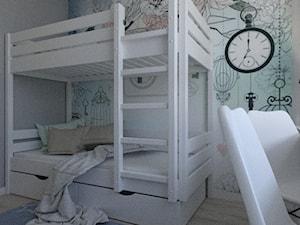 MIESZKANIE DLA RODZINY - Mały szary pokój dziecka dla chłopca dla dziewczynki dla rodzeństwa dla ucznia dla malucha dla nastolatka, styl skandynawski - zdjęcie od VIVINO Studio