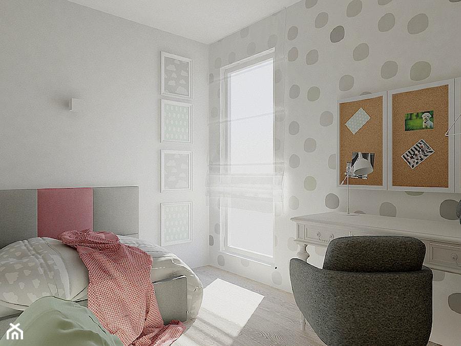 MIESZKANIE DLA RODZINY - Mały szary pokój dziecka dla chłopca dla dziewczynki dla ucznia dla nastolatka, styl nowoczesny - zdjęcie od VIVINO Studio