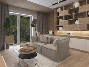 DOM W BIELI - Średnie szare biuro kącik do pracy w pokoju, styl nowoczesny - zdjęcie od VIVINO Studio