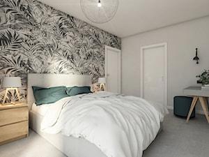 WARSZAWA ŻOLIBORZ - Średnia szara sypialnia małżeńska, styl nowoczesny - zdjęcie od INVENTIVE studio