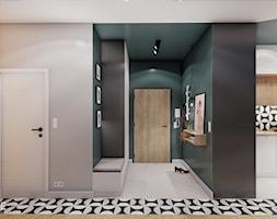 WARSZAWA URSYNÓW - Średni czarny zielony hol / przedpokój, styl nowoczesny - zdjęcie od INVENTIVE studio