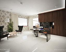 ART DECO - Duże szare biuro pracownia, styl art deco - zdjęcie od INVENTIVE studio