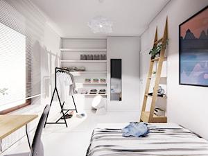 GDYNIA - Duża szara sypialnia, styl minimalistyczny - zdjęcie od INVENTIVE studio