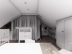 DOM CELESTYNÓW - Duży biały pokój dziecka dla chłopca dla dziewczynki dla ucznia dla niemowlaka, styl tradycyjny - zdjęcie od INVENTIVE studio