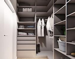 DOM BIAŁOŁĘKA - Mała zamknięta garderoba oddzielne pomieszczenie, styl nowoczesny - zdjęcie od INVENTIVE studio