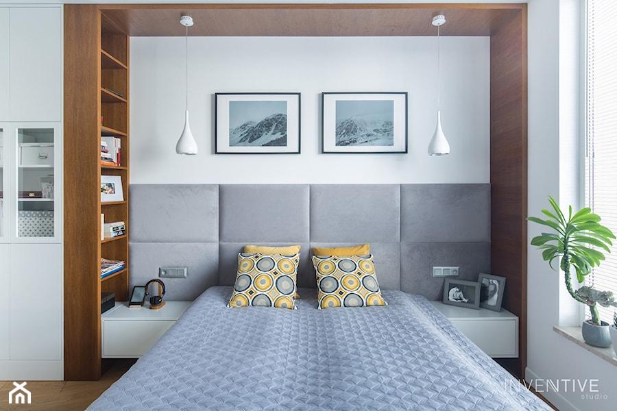 WILANÓW - realizacja - Sypialnia, styl nowoczesny - zdjęcie od INVENTIVE studio