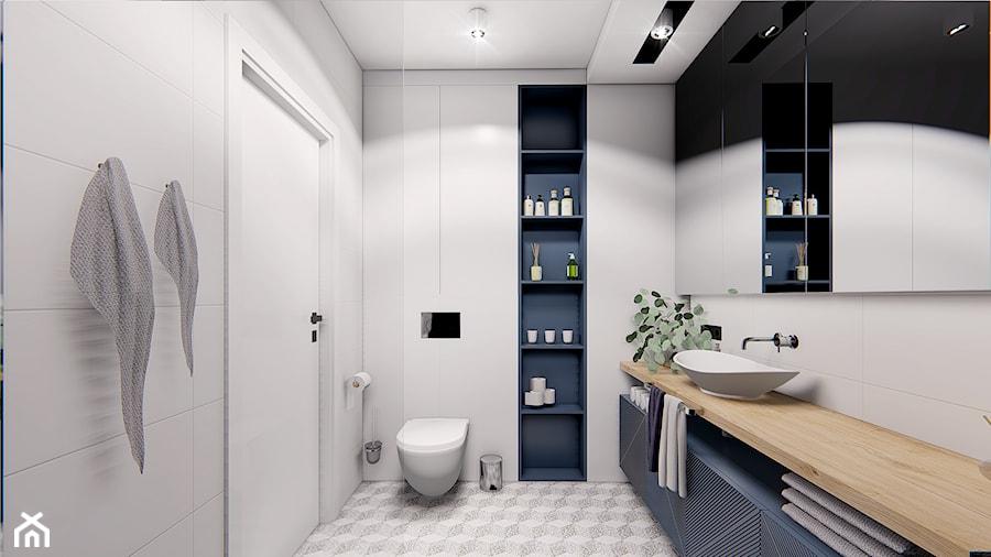 DOM POZNAŃ - Średnia biała łazienka bez okna, styl nowoczesny - zdjęcie od INVENTIVE studio