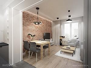 WARSZAWA MURANÓW - Średni szary salon z jadalnią, styl tradycyjny - zdjęcie od INVENTIVE studio