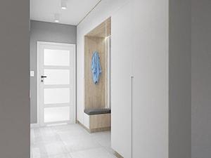 PRZYJEMNY HOL - Średni szary hol / przedpokój, styl nowoczesny - zdjęcie od INVENTIVE studio