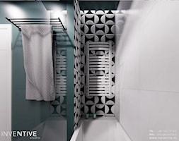 WARSZAWA URSYNÓW - Mała zielona łazienka w bloku w domu jednorodzinnym bez okna, styl nowoczesny - zdjęcie od INVENTIVE studio