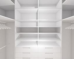 PRZYTULNY MINIMALIZM - Średnia zamknięta garderoba, styl minimalistyczny - zdjęcie od INVENTIVE studio