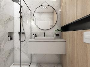 Żoli Żoli - Średnia łazienka w bloku w domu jednorodzinnym bez okna, styl minimalistyczny - zdjęcie od INVENTIVE studio