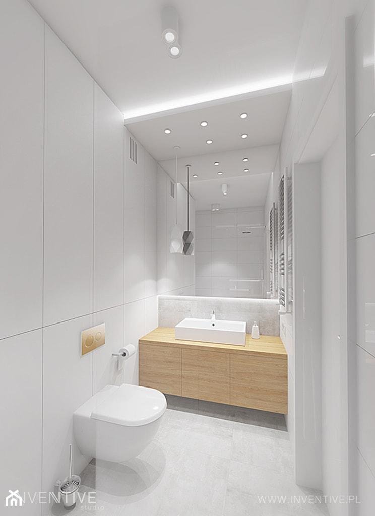 Przytulny Minimalizm Mała Szara łazienka W Bloku W Domu