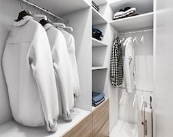 Żoli Żoli - Mała zamknięta garderoba oddzielne pomieszczenie, styl minimalistyczny - zdjęcie od INVENTIVE studio